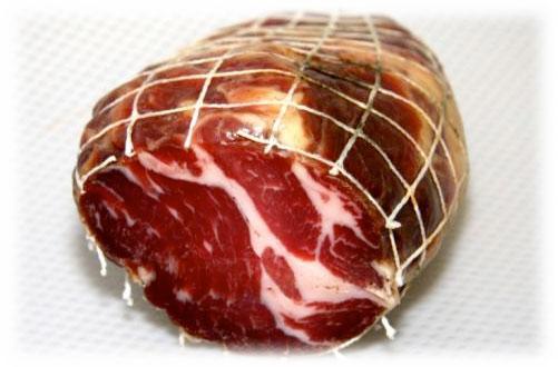 Coppa meat description